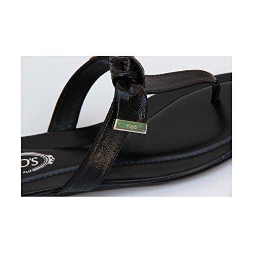 5cce6161 Tods Damene Flat Sandal Xxw0ii0a120atsb999 Svart - webaap.be