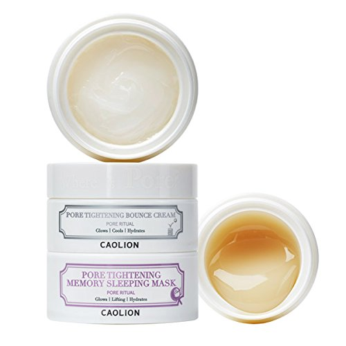 Caolion Pore Tightening Day & Night Glowing Duo - Controls Sebum, Hydrates The Skin, Skin Elasticity - 1.76 oz. (Best Products For Pores And Blackheads)