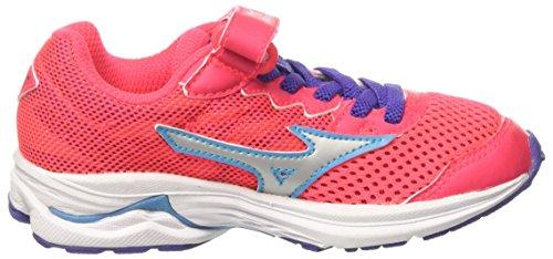 Mizuno Wave Rider 20 Jr V, Zapatillas De Running para Niñas Rosa (Diva Pink/silver/liberty)