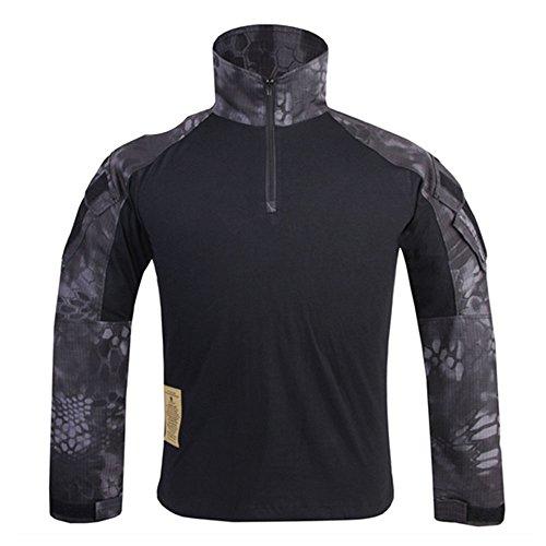 EMERSONGEAR Military Airsoft BDU Shirt Tactical Combat Long Sleeve T-Shirt Typhon Small ()