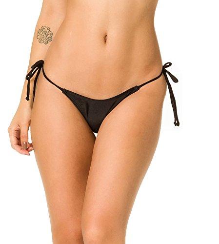 THE MESH KING COQUETA Brazilian Sexy Bikini Bottom Separates Swimwear TEENY Thong BLACK-SMALL (Coqueta Bikini Thong)