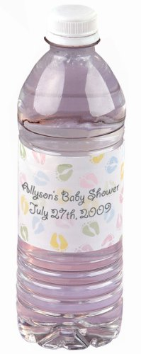 Wilton 1003-2135 Baby Feet Personalized Water Bottle Wrappers, 16 Count