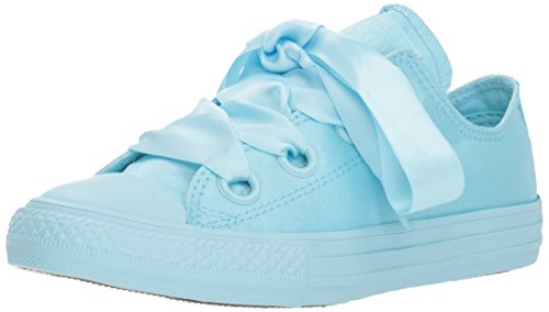 k Taylor All Star Big Eyelets Sneaker, Light Blue/Cream, 13 M US Little Kid ()