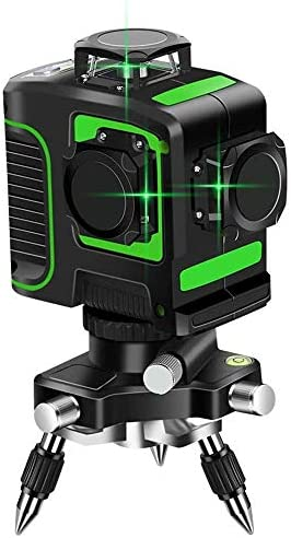 Topkar Green Beam 3D Self-Leveling 3×360 Cross Line Three Plane Laser Level with 360 Rotating Base