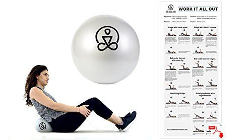 - Mini Core Exercise Ball- Pilates, Physical Therapy, Barre, Yoga - Includes eBook and Travel Bag (with Inflation Straw) 9 inches