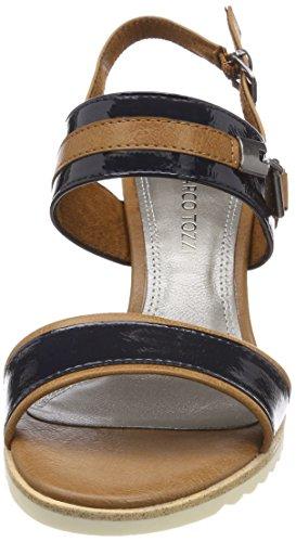 Bleu Navy Arrière 28704 Sandales Pat Tozzi Femme Bride Bleu Comb Marco xqP16RZ