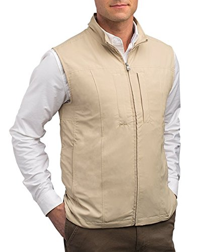 SCOTTeVEST RFID Travel Vests for Men with Pockets - Rugged Travel Clothing (KHA L)