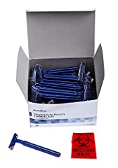 100 Twin Blade Razors manufactured by McKesson Home Medical. These twin blade razors are great for a quick easy safe shave though used most by business and not consumer. For instance, these disposable razors are very cost effective for tattoo...
