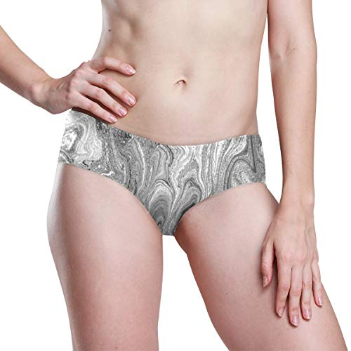 ZHOUSUN Women's Breathable Seamless Underwear,Liquid Watercolor Abstract Cheekini Panties Stretch Bikini Microfiber Low Rise Brief XL -