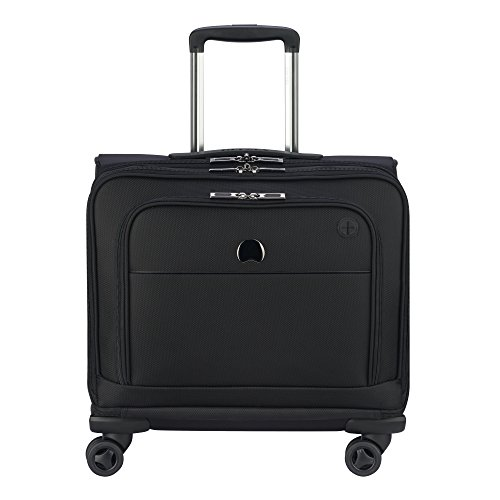 Delsey Luggage 4 Wheel Spinner Mobile Office-Exclusive Briefcase, Black, One Size by DELSEY Paris