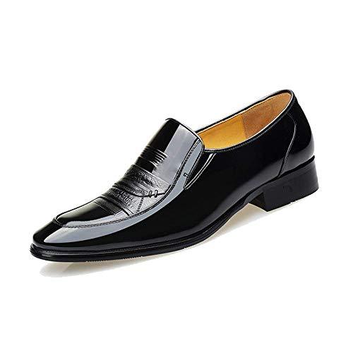 Scarpe British in Urti da all'Usura Style Uomo Business Pelle Assorbimento Pointed degli Resistente Black1 Trend Traspirante FwqFErp