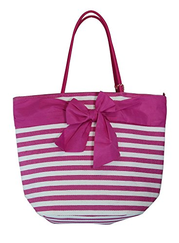 Large Fashion Stripe Zippered Beach