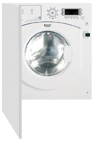 Hotpoint BWMD 742 (EU) Waschmaschine FL / A++ / 187 kWh/Jahr / 1400 UpM / 7 kg / 10038 Liter/Jahr / Einbau / Display für Start-Restzeit / Woolmark Platinum Care / weiß