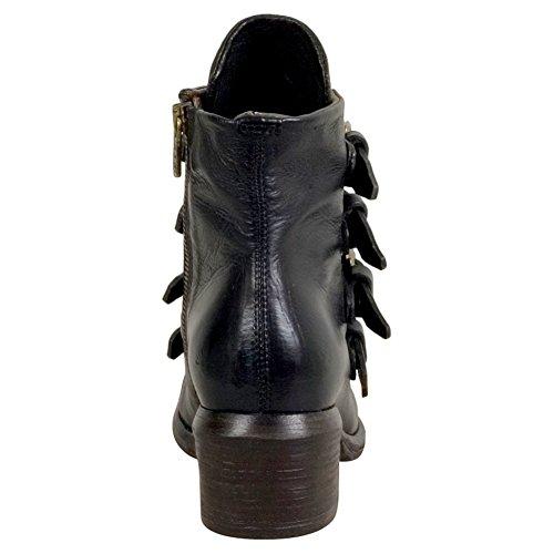 A.S.98 Frankie Womens Ankle Boot Black Leopard 8xjNW