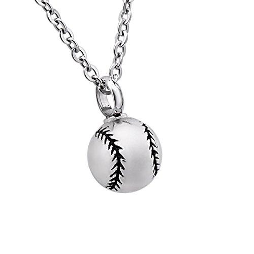Cremation Urn Necklace Baseball Charm Ashes Keepsake Memorial Pendant