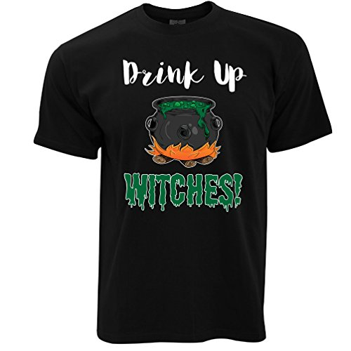 Tim And Ted Halloween T Shirt Drink Up, Witches Cauldron Black M ()