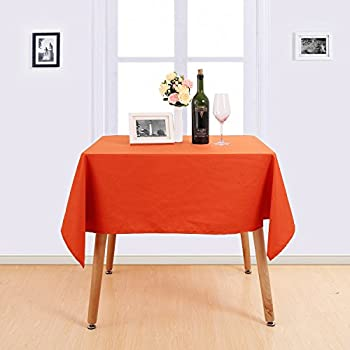 Deconovo Solid Decorative High Density Oxford Table Cloth Water Resistant Tablecloth  Square Table Cloth For Dining