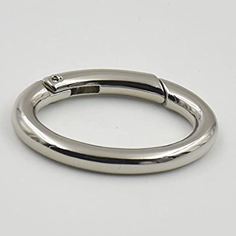 Gold MYIW 4 Pieces 1 25mm Gate Spring O Ring Round Carabiner Snap Clip Trigger Spring Keyring Buckle