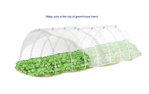 5X24FT Mini Greenhouse, Hoop House Kits, 12pcs, Arch H: 27
