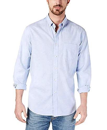 Club Room Men's Solid Stretch Oxford Cotton Shirt (XLarge) Palace Blue ()