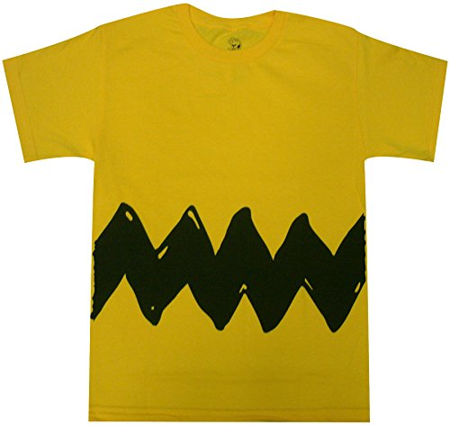 Peanuts Charlie Brown Double Sided Zig Zag Costume Youth T-Shirt (Youth Small, Yellow)]()