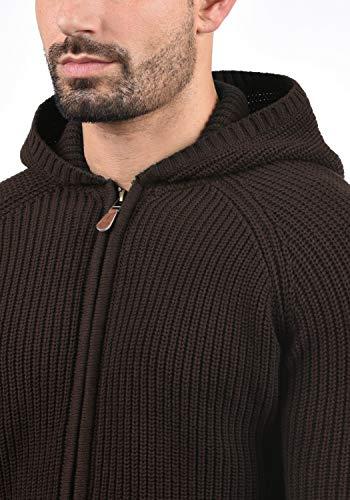 Xeno 5973 Veste Capuche Bean Gilet Maille À Grosse En Homme Pour Coffee solid 100 Cardigan Coton ZqUwZd