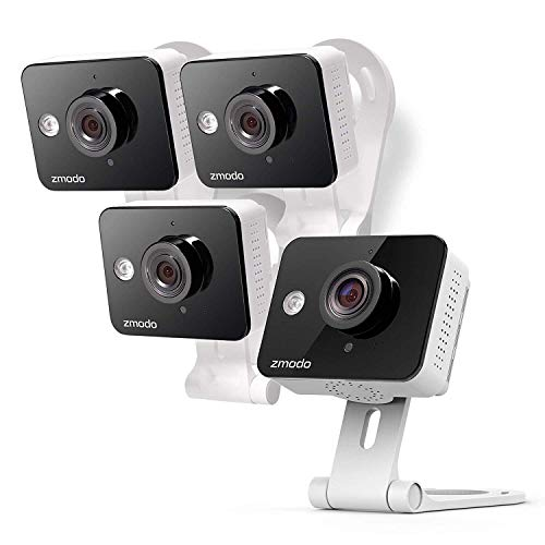 Zmodo Wireless Security Camera (4 Pack) Smart HD WiFi IP Cameras with Night Vision (Renewed)
