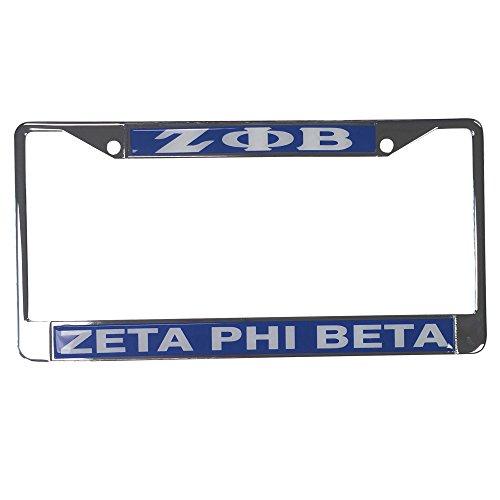 Zeta Phi Beta Standard Letters/Name Silver License Plate - License Frame Phi Plate