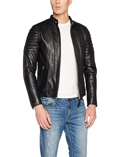 Schott Black Jacket Lcjoe Black black Nyc Men's 1xqSw681r