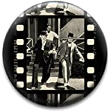 Film Strip Laurel & Hardy Badge by RetroBadge