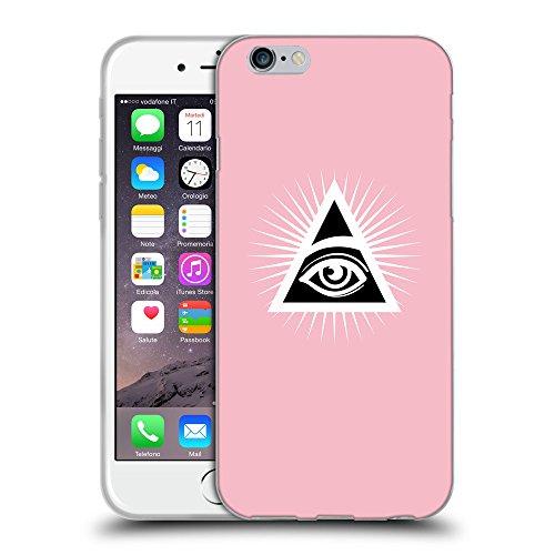 GoGoMobile Coque de Protection TPU Silicone Case pour // Q09110630 Œil Providence 21 Rose // Apple iPhone 7