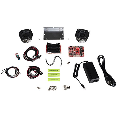 Parts Express Portable 60 Watt Battery Powered Bluetooth Speaker Package with 3