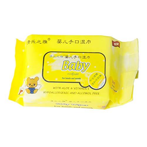 WARMWORD Toallitas húmedas para bebés sin plástico, sin Alcohol, 30 toallitas húmedas por Paquete, 98% de Agua, 0% de…