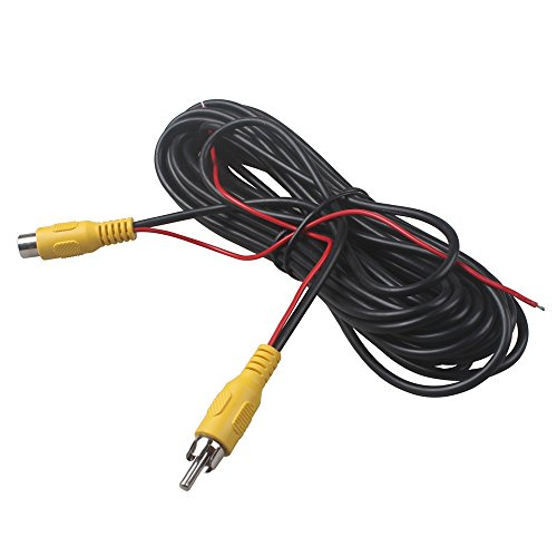 10m Rca Cables (RCA Male To Female Car Reverse Rear View Parking Camera Video Audio Extension Cord Cable With Detection Trigger Wire 10 Meters 32Ft by HitCar)