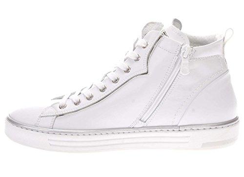 Sneaker Perle Donna Nero Giardini Bianco con Argento Alta qxvwBS