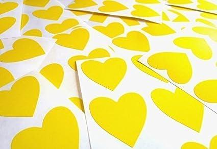 38mm (1.5) Forma De Corazón Código De Color Adhesivos - Paquetes de 72 Grande Teñido Corazones Etiquetas Adheribles para manualidades, elaboración de tarjetas & Decoración - 33 Colores Disponibles Minilabel