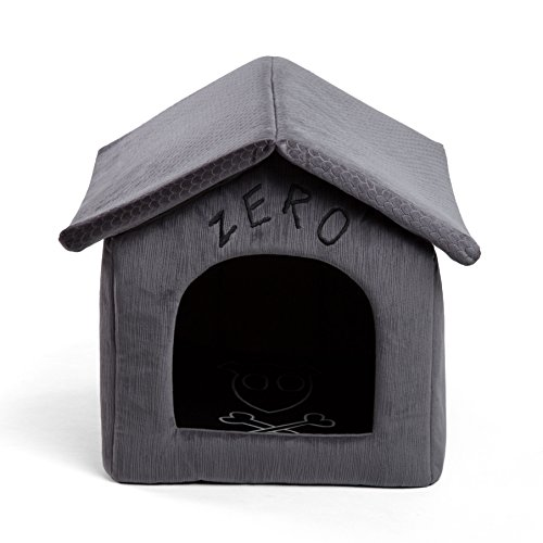(Disney Nightmare Before Christmas Zero Portable Pet House Dog Bed / Cat Bed with Detachable Top, Embroidery, Machine Washable, Dirt/Water Resistant Bottom (Available in two sizes))