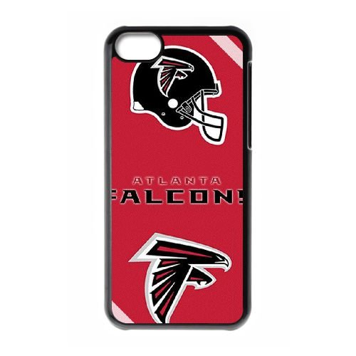 Atlanta Falcons Team Logo coque iPhone 5C Housse téléphone Noir de couverture de cas coque EBDOBCKCO14509