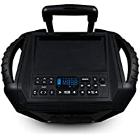 ECOXGEAR GDI-EXBM901 Waterproof Portable Bluetooth/AM/FM Wireless 100W Speaker and PA system, Black