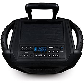 ECOXGEAR GDI-EXBM901 Waterproof Portable Bluetooth/AM/FM Wireless 100W Speaker and PA system, Black