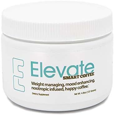 ELEVACITY Elevate Smart Coffee Tub 4.5 grams per serving,  30 servings/Container 20 calories & 140 mg of Caffeine/Serving. Original Formula