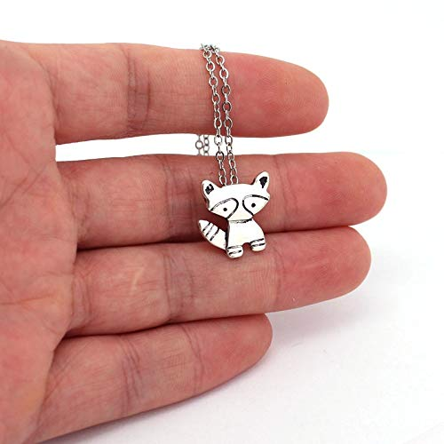 Cute Cartoon Raccoon Pendant Necklace Raccoon Necklaces Gift For Child