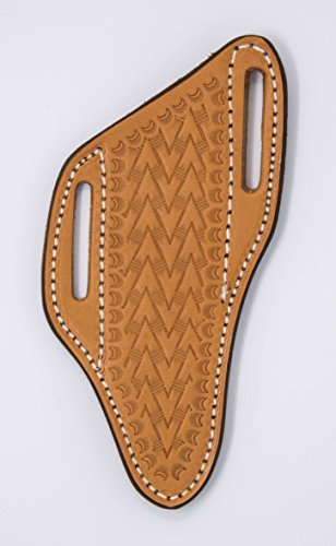 Leather Pancake Crossdraw Knife Sheath, Fixed Blade, Large by TOP HAND GEAR