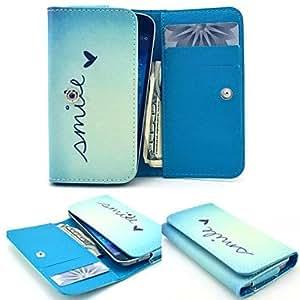 20150511 patrón de corazón blanco pu dinero tarjeta de cuero del caso para el tamaño móvil de Samsung