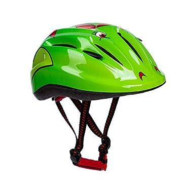 Babimax Cascos Bicicleta Niños Casco Ciclismo Patinaje Casco de Seguridad (Verde)