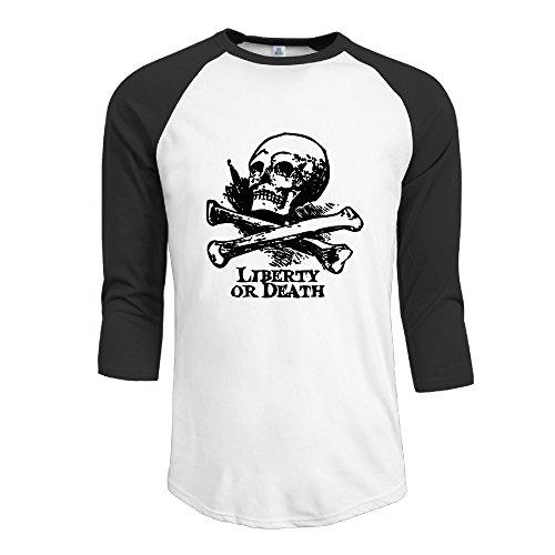 3/4 Sleeve Men's Juniors Lierty Or Death Baseball Tees
