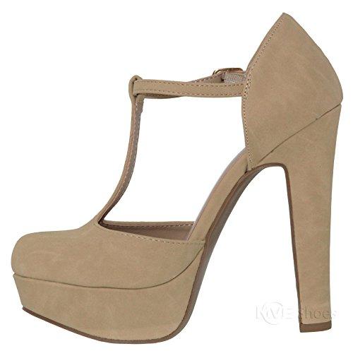Toe Closed Mve T Platform Nbpu Women's h strap shoes Pumps Nat Shoes EtAqATw