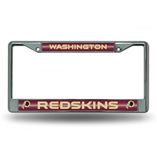 NFL Washington Redskins Bling Chrome License Plate Frame with Glitter Accent