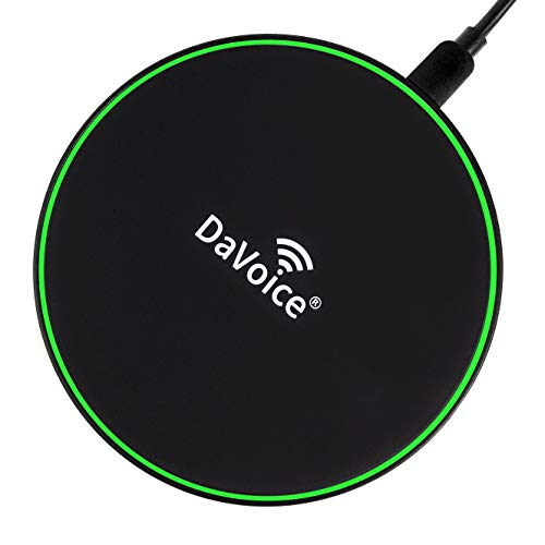 DaVoice 10W Fast Wireless Charger Phone, Compatible with Qi Apple iPhone Wireless Charger iPhone X XS Max XR iPhone 8 8 Plus/Samsung Wireless Charger Note 8 9 S9 S8 Charging Pad Qi Enabled Devices