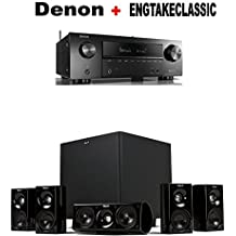 Denon AVR-X1500H 7.2 CH 80W 4K Ultra HD WiFi/Bluetooth AV Receiver + Klipsch HDT-600 Home Theater System Bundle